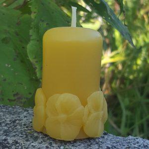 Daisy Votive Organic Beeswax Candle