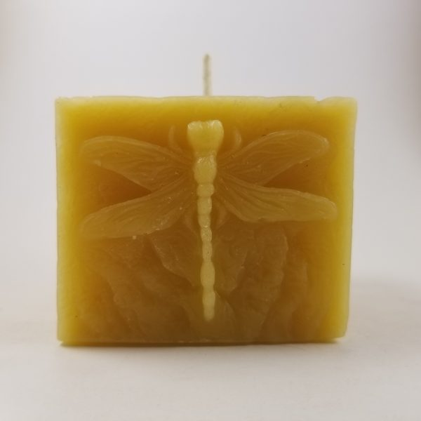 Dragonfly Pillar Beeswax Candle
