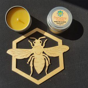 Emergency Organic Beeswax Candle.