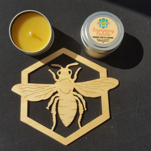 Emergency Organic Beeswax Candle.