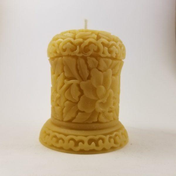 Lotus Pillar Organic Beeswax Candle