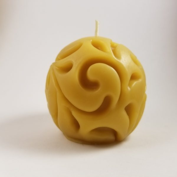 Sphere Beeswax Candle